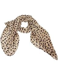Accessoire pour Femmes Calonice Amorino Châle Chat Chats design aux motifs d'animaux Toucher Soyeux à la mode Élégant écharpe pour Filles Jeunes-Femmes Taille Unique 45x0.1x29cm (LxHxl) 23400