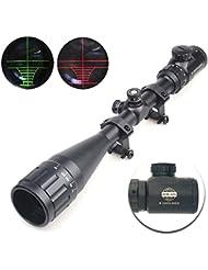 Spike® Tactique 6-24x50AOE rouge & vert allumé réticule pistolet optique airsoft lunette de chasse