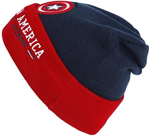 Captain America Modern Shield Bonnet bleu marine/rouge Standard