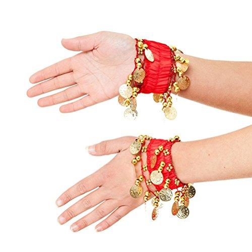 OULII Bauchtanz Armband Bauchtanz Manschette Knöchel Chiffon Armband Armband (Zubehör Kostüm Zigeuner)