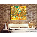Tamatina Kerala Mural Canvas Paintings - Dancing Peacocks - Indian Paintings - Traditional Art Paintings - Paintings For Home Décor - Paintings For Bedroom - Paintings For Living Room - Religious Canvas Paintings - Kerala Mural Paintings For Wall