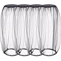 Hestya 4 Pack Mosquito Head Net Face Netting Neck Cover Netting Mesh Net for Outdoor Activity