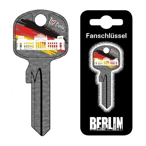 Fanschlüssel Schlüsselrohling Schlüsselanhänger Fanartikel Schlüsseldienst Berlin Reichstag