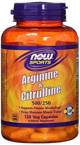 Arginine & citrulline 500/250 mg - 120 gelules - Now foods