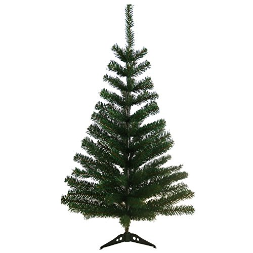 DP-Tech 90 cm 90 Spitzen künstlicher Weihnachtsbaum Tannenbaum Christbaum in grün inkl. Kunststofffuß Christbaumständer