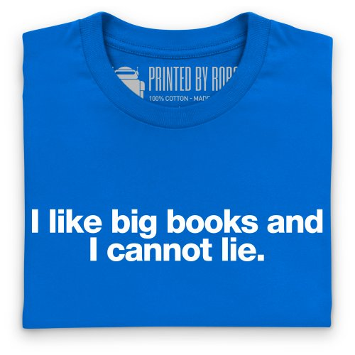 Big Books T-Shirt, Herren Royalblau