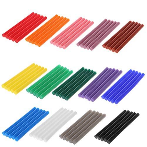 5 Stück Heißklebestifte, bunt, 7 x 100 mm, Klebstoff für Heimwerker, Basteln, Spielzeug, Reparaturwerkzeug rose
