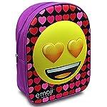 Heart Eyes Love Emoji Childrens Junior Backpack School Travel Bag