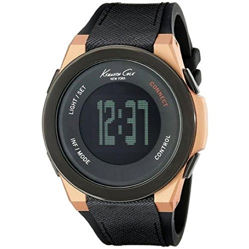 Wristwatch KENNETH COLE SMARTWATCH Mod. CONNECT UNISEX BLUETOOTH DIGITAL SILICON /LEATHER STRAP 3 ATM 44mm 10022939