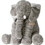 MorisMos Elefant Baby Kissen Weiches Plüschelefant Schlafkissen 60x45x25cm