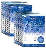 Collegeblock A4 80Bl lin. mit Rand li., 4-fach Lochung, 10er-Pack