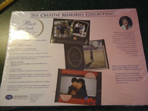 Creative Memories Collection 5 x 7 Black Scrapbook Pages - 10 sheets/20 pages - Refill RCM-5BL by Creative Memories