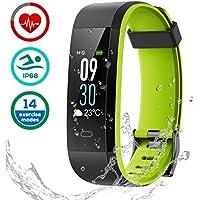 LATEC Fitness Tracker, Bracelet Tracker d'activité Moniteur de fréquence Cardiaque IP68