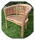 ASS Teak Bananensessel Gartensessel Gartenstuhl Sessel Holzsessel Gartenmöbel Holz sehr robust Modell: Coco von