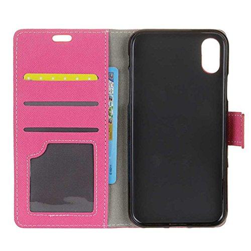Hülle Für iPhone X, PU Leder Etui Hülle im Bookstyle Handy Tasche für iPhone X Schutzhülle Schale Flip Cover Wallet Case (KW-05#) KW20#