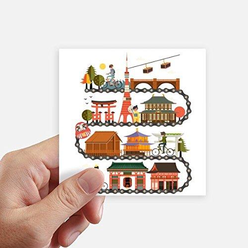 DIYthinker Montar Tradicional Japonesa Landshape Mapa Square Stickers 10cm Pared Maleta portátil Motobike Decal 8pcs 10cm x 10cm