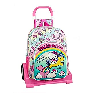 51XaPPQ%2BTwL. SS324  - Hello Kitty Candy Unicorns Mochila con Carro Ruedas Evolution, Trolley