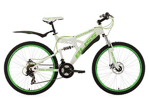 KS Cycling Fahrrad Mountainbike Fully Bliss RH 47 cm Weiß/Grün, 26