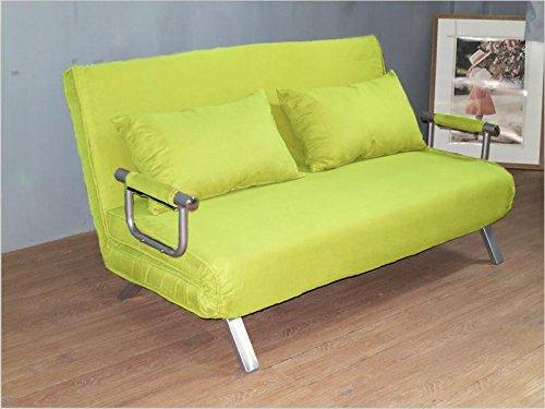 ITALFROM - Sofá Cama de Dos plazas (155 x 69 x 83 cm) Color Verde
