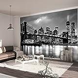 murando - Fotomural New York 300x210 cm - Papel tejido-no tejido - Papel pintado - Ciudad Luna Noche d-B-0205-a-a