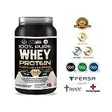 PURE WHEY PROTEIN X3 - Proteína 100% Pura con Colágeno + Magnesio - Tonifica y Aumenta la Masa Muscular - Protege músculos y ayuda a la recuperación de los Tejidos Fibrosos - 1KG Sabor Chocolate