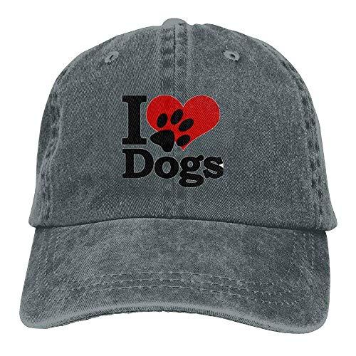 Aoliaoyudonggha I Love Dogs Denim Baseball Caps Hat Adjustable Cotton Sport  Strap Cap for Men Women 4e9ea268e3b5