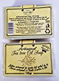 Arganour Handwerkliche Teebaumölseife - 2er Set