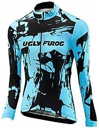 Uglyfrog 2018 Nuevo Maillot Ciclismo Mujer Invierno Deportes Al Aire Libre Thermal Fleece De Manga Larga Ciclismo Jersey Triatlón Ropa Bicicleta Camiseta WZ01