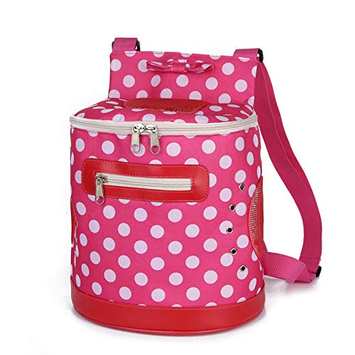 JZXCNUE Carrier Bags for Small Dogs Dog Backpack Out Oxford Portable Package Windproof Carrier for Cat Dogs Dots Pets -