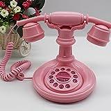 LFF.FF Vintage Rose Antique Princesse Mignonne Téléphone Maison avec des Ornements Décoratifs De Téléphone Fixe De Mode De Corde