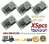 5pcs Mini360 Mini-360 DC-DC Adjustable Buck Converter Step Down Power Supply Module Ultra-Small | 5pcs Mini360 Down Modul Down Modul Handy Netzteil Modul DIY, Fahrzeug Lm2596