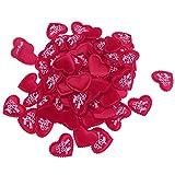 Baoblaze 100tlg. Liebe Herz Konfetti Romantik Valentinstag Hochzeit Deko in verschiedenen Farben - Rose Red 3.5cm Ich liebe dich