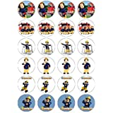 Fireman Sam style Edible Wafer Paper Fairy/Cup Cake Toppers x 24 - Ideal for a Fireman Sam Birthday Party