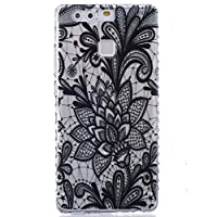 For Huawei P9 Case [With Tempered Glass Screen Protector],idatog(TM) Soft Silicone Bumper Ultra Thin Slim Flexible Cover Case ,High Quality TPU with Colorful Cute Printed Pattern Fashion Design Protective Back Rubber Case Cover Shell Perfect Fitted For Hu