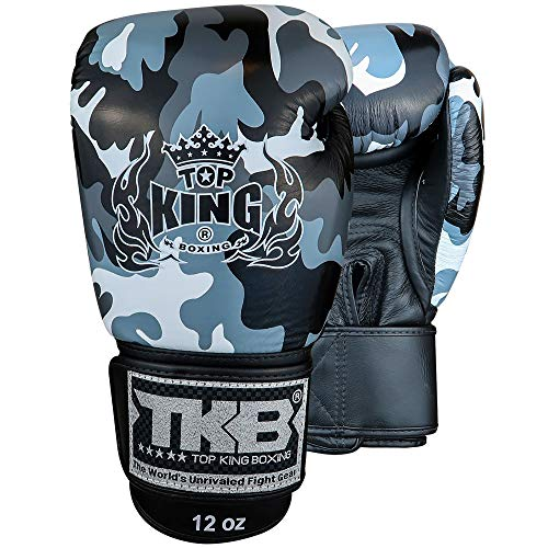 KINGTOP TOP King Boxhandschuhe, Empower Camo, grau Größe 10 Oz (Top-10-boxhandschuhe)