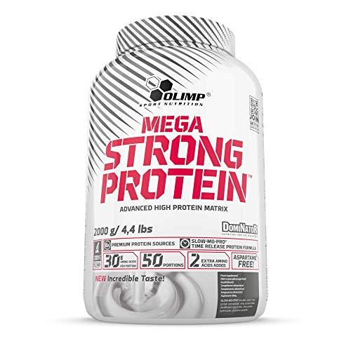 Olimp Mega Strong Protein Dominator | Molkeneiweißkonzentrat und Molkeneiweißisolat | Schokolade Geschmack | 2 kg -