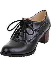 Amazon.es  Zapatos Oxford Mujer - Zapatos de tacón   Zapatos para ... 59ac98664222