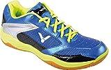 VICTOR AS-31 Indoor Sportschuh / Badmintonschuh / Squashschuh / Hallenschuh, Blau/Grün, Größe 45