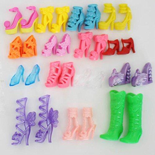 jilesm 10Paar Mini High Heel Schuhe für Puppe Kleidung Zubehör (La-de-da-puppe Kleidung)