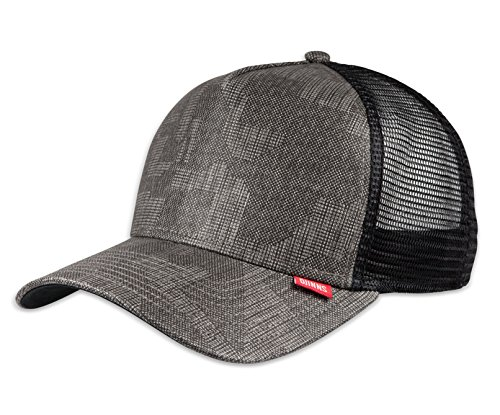 DJINNS - Pixel Camo (black) - High Fitted Trucker Cap (Camo Hut Flex Fit)