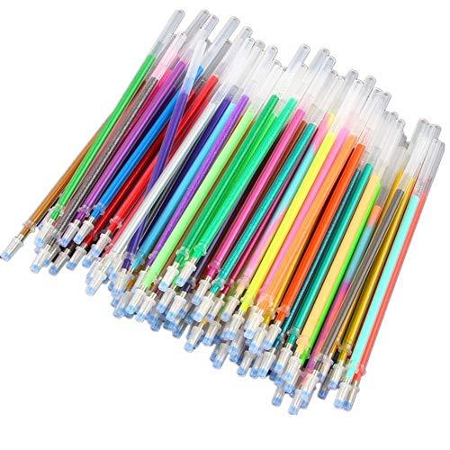 100 Farben Refills Aquarell Neon Glitter Pastell Kunst Ersetzen Refills Gel Stift Büro Schule Liefert -