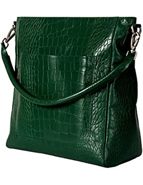 manbefair FAIR TRADE Öko-Leder XL-Shopper Livia, Handtasche, Henkeltasche, Umhängetasche 35x35x13 cm (BxHxT)