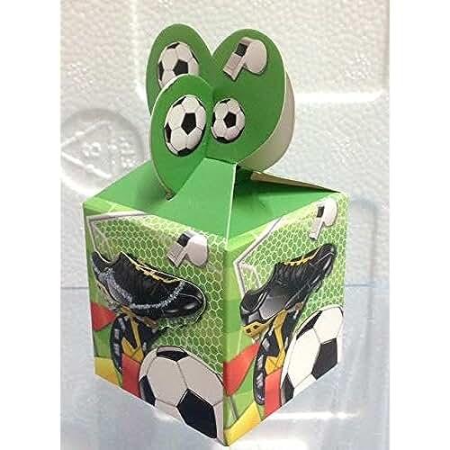 ideas regalos para comuniones kawaii STOCK 12 PEZZI Calcio Football Scatola scatolina in cartone portaconfetti BOMBONIERA NASCATIA COMUNIONE CRESIMA