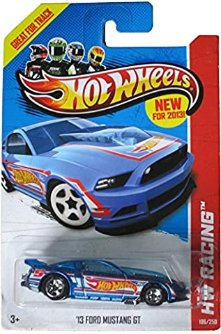 Hot Wheels 2013 Hw Racing Blue '13 Ford Mustang Gt 106/250