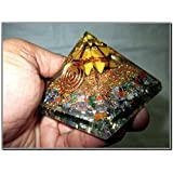 Jet Mix Gemstone Yellow Jade Merkaba Chakra Orgone Pyramid Free 40 Page Booklet on Jet International Crystal Therapy. Crystal Gemstones Copper Metal Mix Rare Healing Positive Energy Tetrahedron Sacred Geometry Memory Concentration Meditation Spiritual Psychic Piezo Electric Effect Business Prosperity Success Destress Anxiety Disorder Love Power Mental Peace Strength Divine X-mas Mother's Day Father's Day Thanks Giving Birthday Anniversary Thinking of You Sorry