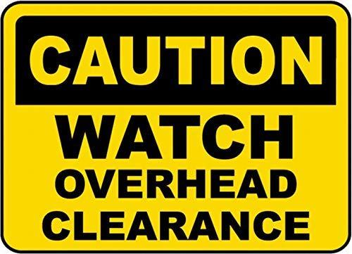 Vivityobert Schild mit Uhren-Overhead-Uhr, Aluminium, Metall, Warnschild, Sicherheitshinweise -