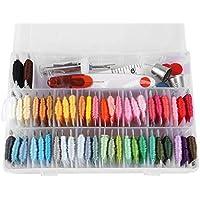 DIY Craft Tool Set Fieltro de Aguja, Hilos de 50 Colores con Fieltro de Aguja de Bordado