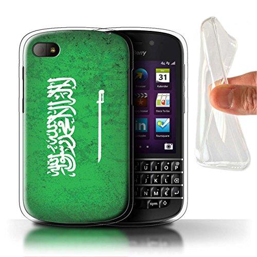 Stuff4® Gel TPU Hülle/Case für BlackBerry Q10 / Saudi Arabien/Arabisch Muster/Asien Flagge Kollektion (Q10 Arabisch)