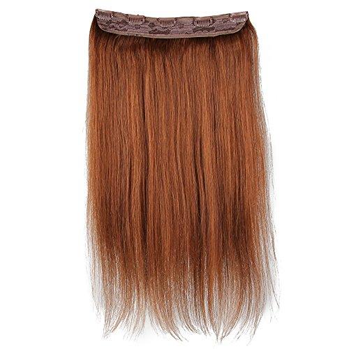Beauty7 100g Extensions de Cheveux 8 Clips Humains à Clip 100% Remy Hair Haute Qualité #6 Couleur Medium Brown Longueur 60 cm