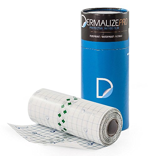 Dermalize pro tattoo bandage in 6 pollici x 10,9 yard / 10 metri roll clear adesivo antibatterico
